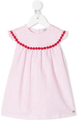 Tartine et Chocolat Crochet Embellished Striped Dress