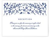 Minted Floral Frame Letterpress Reception Cards