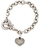 Lagos Two-Tone Diamond Heart Charm Bracelet