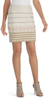White House Black Market Fringe Embellished Pencil Skirt