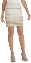 White House Black Market Fringe Embellished Pencil Skirt