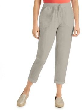 Karen Scott Petite Delilah Cotton Cuffed Pull-On Pants, Created for Macy's
