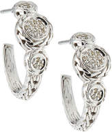John Hardy Sterling Silver & Diamond Pavé Hoop Earrings