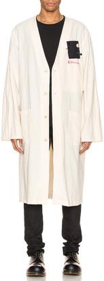 Raf Simons Raglan Labo Coat in Ecru | FWRD