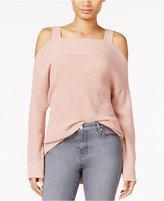 Sanctuary Amelie High-Low Cold-Shoulder Sweater