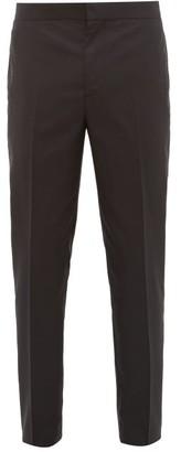 Brunello Cucinelli Tailored Cotton & Silk-blend Twill Tuxedo Trousers - Black