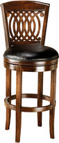 Hillsdale Vienna Swivel Barstool with Back