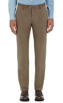 Incotex Men's M-Body Modern-Fit Cotton Trousers-BROWN
