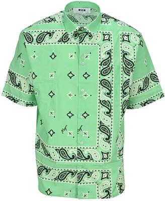 MSGM Bandana Print Shirt