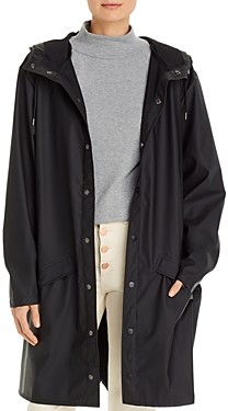 Rains Mid-Length Hooded Raincoat