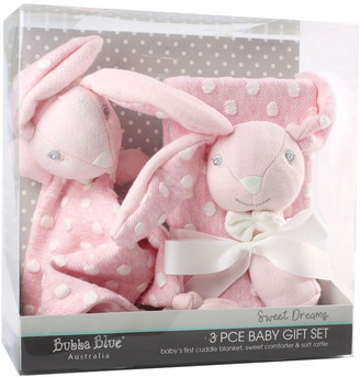 Bubba Blue Sweet Dreams 3 Piece Baby Gift Set - Pink