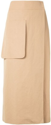 Dusan Straight Midi Skirt