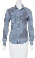 Band Of Outsiders Patchwork Button-Up Top