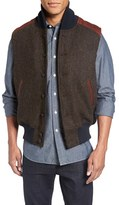 GoldenBear Golden Bear Harris Tweed Wool Vest with Leather Trim