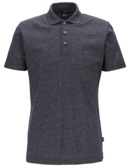 Slim-fit polo shirt in mercerized moulin cotton
