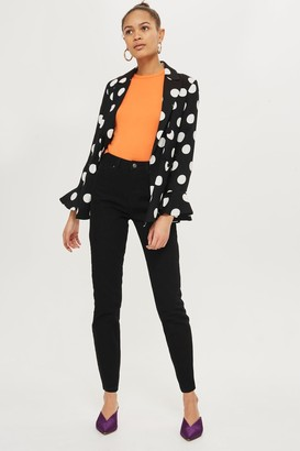Topshop Womens Black Orson Slim Jeans - Black