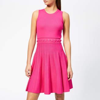 MICHAEL Michael Kors Women's Grommit Lace and Crew Dress