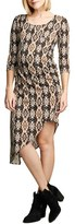 Maternal America Women's Print Asymmetrical Hem Dress