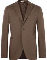 Boglioli Brown Slim-Fit Unstructured Stretch-Cotton Twill Suit Jacket