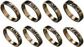 Asos Word Ring Pack - Gold