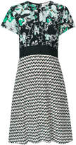 Dorothee Schumacher floral and geometric panelled print dress