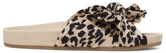 Loeffler Randall Caro Knotted Leopard-Print Slides