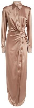 Alexander Wang Silk Satin Twist Maxi Dress