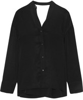 Helmut Lang Cutout Twill Wrap Shirt - Black