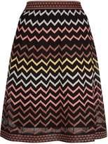 M Missoni Metallic Zig Zag Mini Skirt, Black, IT 40