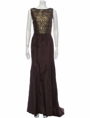 Oscar de la Renta 2007 Long Dress Brown