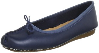 Clarks Womens Freckle Ice Closed Mocassins 4 UK - Blue (Navy Leather)