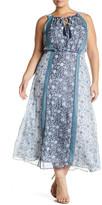 Sandra Darren Chiffon Maxi Dress (Plus Size)