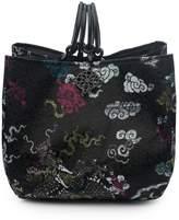 Josie Natori Dragon Jacquard Small Bag