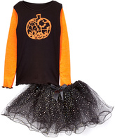 Beary Basics Black & Orange Lacy Pumpkin Tee & Tutu - Infant Toddler & Girls
