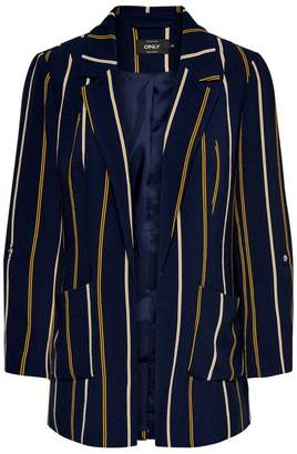 Only Vertical Striped Blazer with Pockets