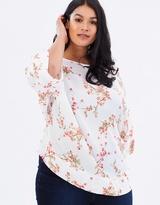 Ditsy Kimono Top