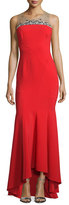 Notte by Marchesa Sleeveless Contour Ponte Gown, Red