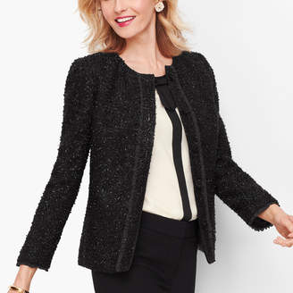 Talbots Embellished Tweed Jacket