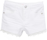 U.S. Polo Assn. White Lace-Trim Shorts - Girls