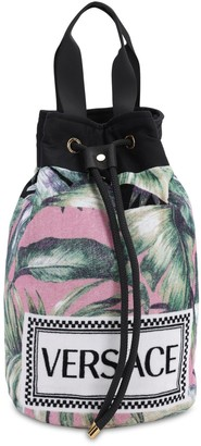 Versace Jungle Cotton Beach Bag