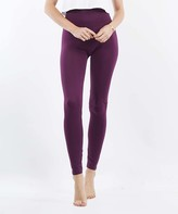 Lydiane Women's Leggings DK - Dark Plum Seamless Tummy-Control High-Waist Leggings - Women