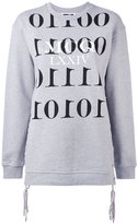 McQ by Alexander McQueen binary sweatshirt - women - Cotton - XS