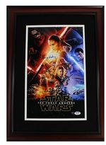 Steiner Sports Daisy Ridley Signed Framed Star Wars VII The Force Awakens Full Cast Movie Poster