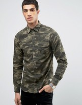 Jack and Jones Vintage Shirt in Regular Fit with All Over Camo