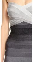 Herve Leger Izzie Ombre Strapless Dress