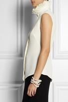Alexander McQueen Ruffled-collar silk top