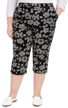 Alfred Dunner Plus Size Printed Capris