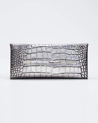Tom Ford Ava Laminated Embossed Croc Pochette Clutch Bag