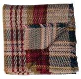 Chanel Plaid Wool Throw Blanket