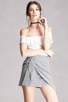 Forever 21 FOREVER 21+ Gingham Ruched Mini Skirt